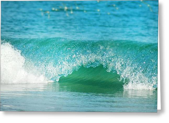 Turquois Waves  Greeting Card