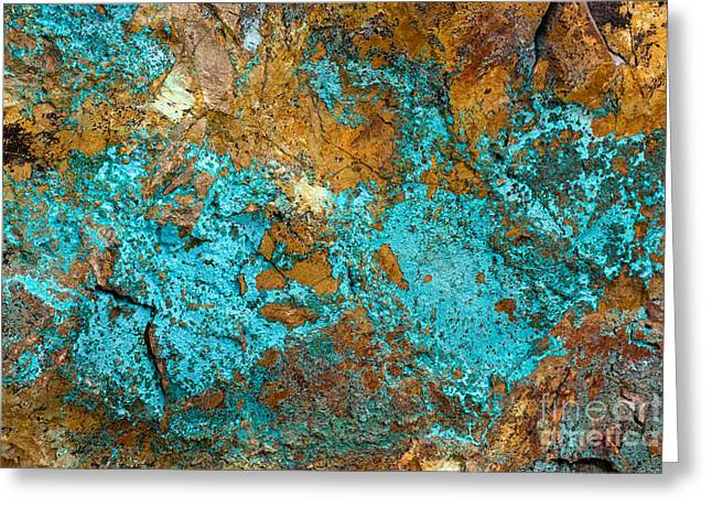 Greeting Card featuring the photograph Turquoise Abstract by Chris Scroggins