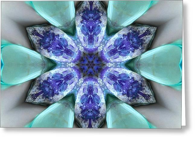 Turquoise Amethyst Star Mandala Greeting Card