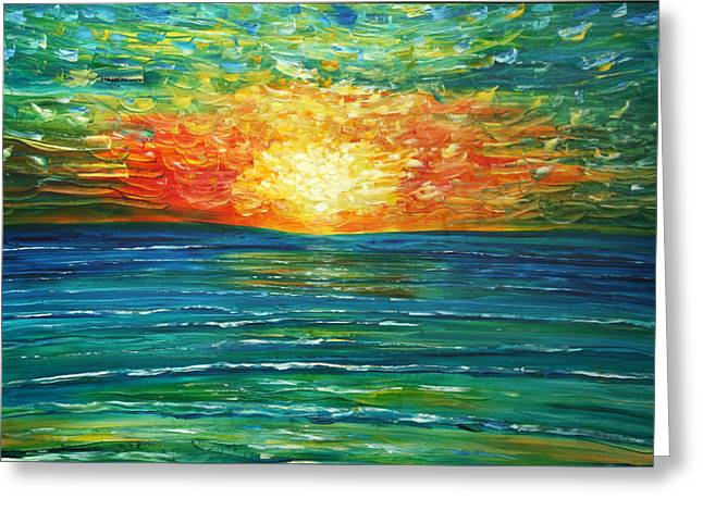 Turquoise At Sunset, Paphos, Cyprus Greeting Card
