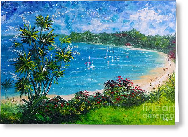 Turquoise Bay On A Sunny Day Greeting Card