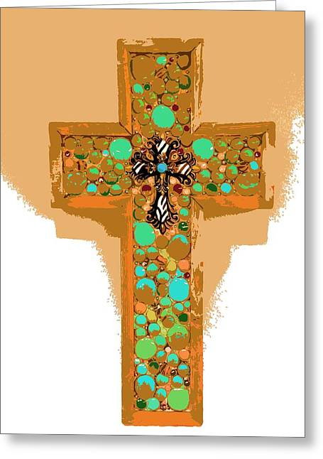 Turquoise Greeting Card by Julio Lopez