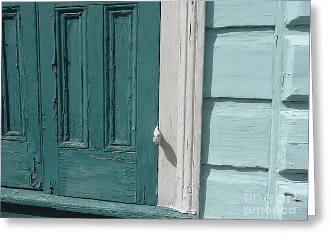 Greeting Card featuring the photograph Turquoise Door by Valerie Reeves