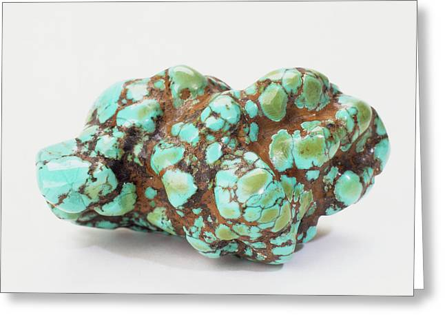 Turquoise Embedded In Iron Oxide Greeting Card