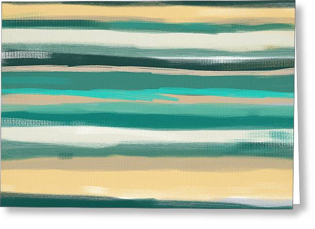 Turquoise Escape Greeting Card by Lourry Legarde
