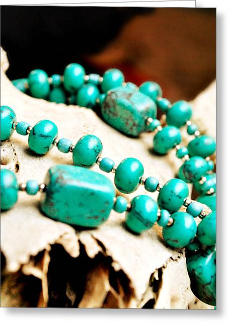 Turquoise Jewelry Greeting Card