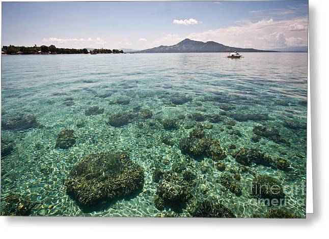 Turquoise Paradise Greeting Card by Asiadreamphoto