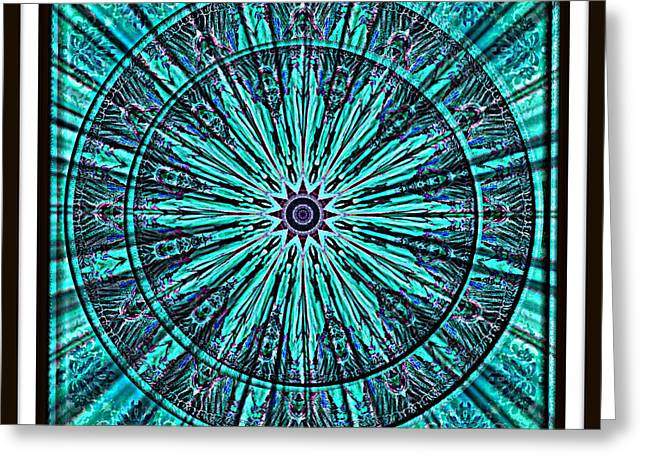 Turquoise Rays Greeting Card by Charmaine Zoe