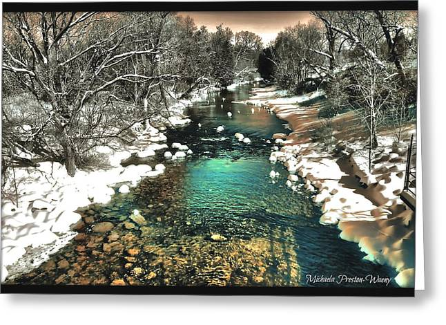 Greeting Card featuring the photograph Turquoise River  by Michaela Preston