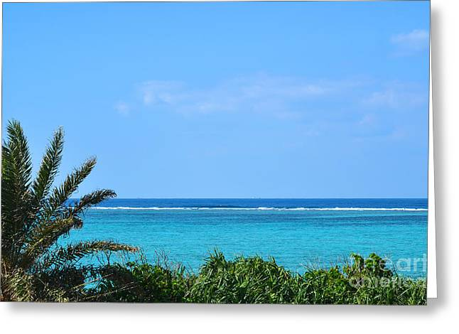 Turquoise Water View Greeting Card by Kennerth and Birgitta Kullman
