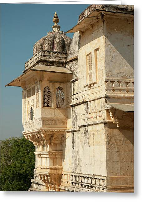 Turret At The City Palace, Udaipur Greeting Card