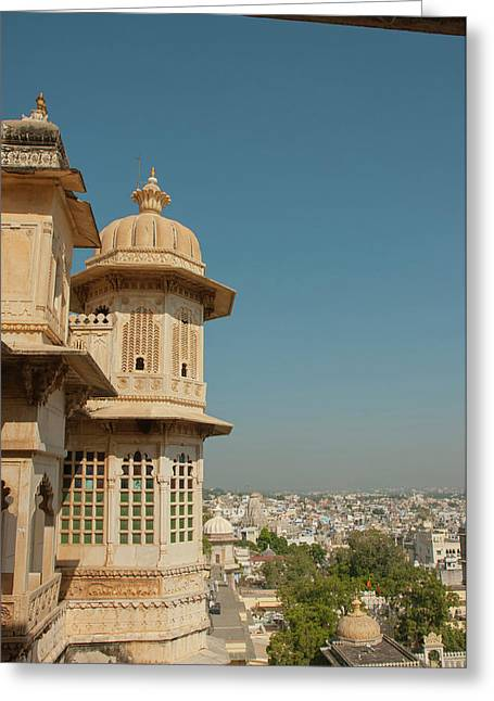 Turret, City Palace, Udaipur Greeting Card