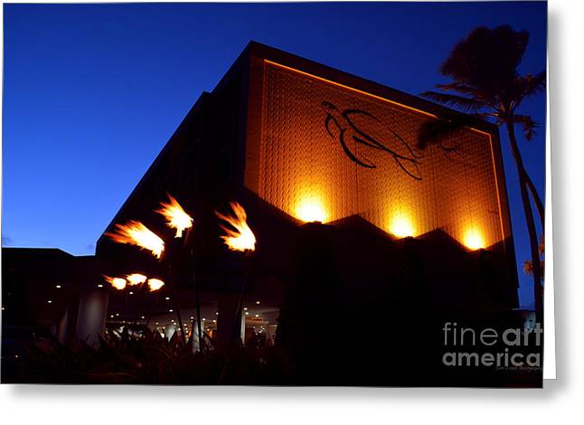 Turtle Bay Resort After Sunset Greeting Card