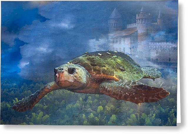 Turtle In Atlantis Greeting Card