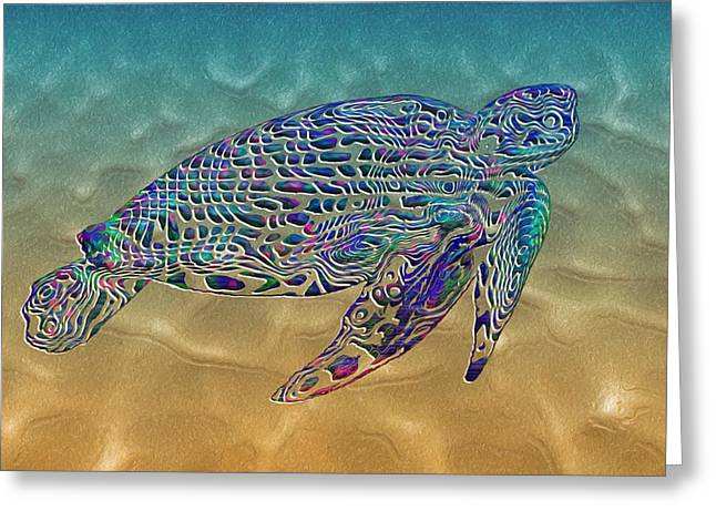 Turtle Greeting Card by Jack Zulli