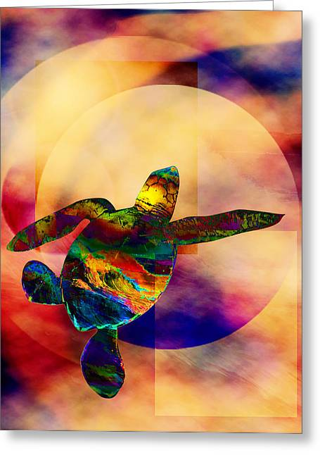 Turtle Medicine Greeting Card by Bruce Manaka