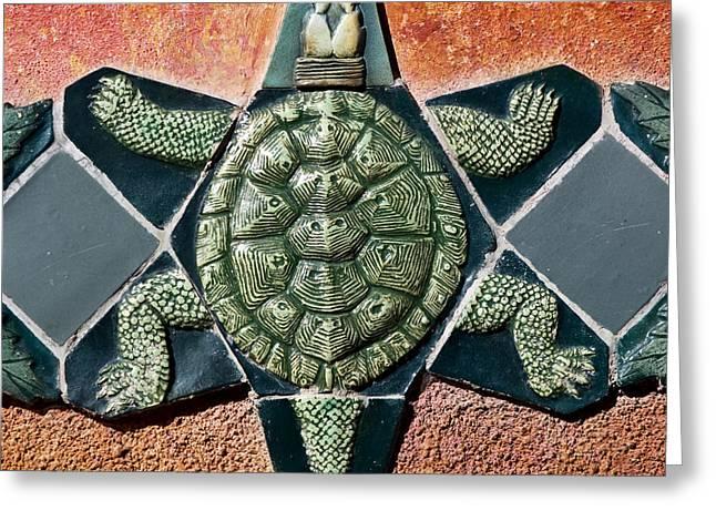 Turtle Mosaic Greeting Card