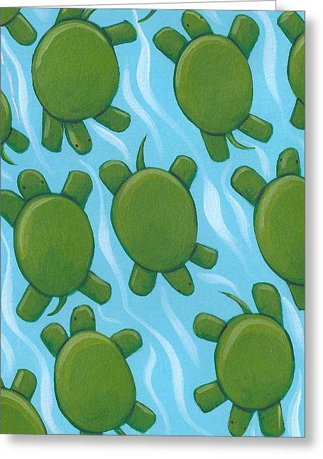 Turtle Nursery Art Greeting Card by Christy Beckwith