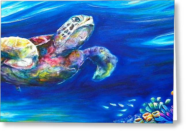 Turtle Reef Greeting Card