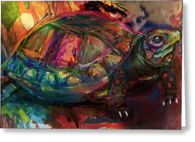 Turtle Time Greeting Card by James Thomas