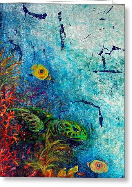 Turtle Wall 1 Greeting Card