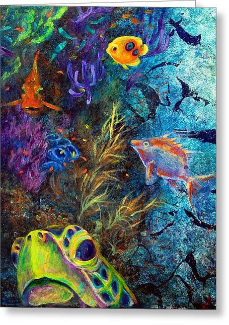 Turtle Wall 3 Greeting Card