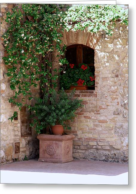 Greeting Card featuring the photograph Tuscan Corner by Sandy Molinaro