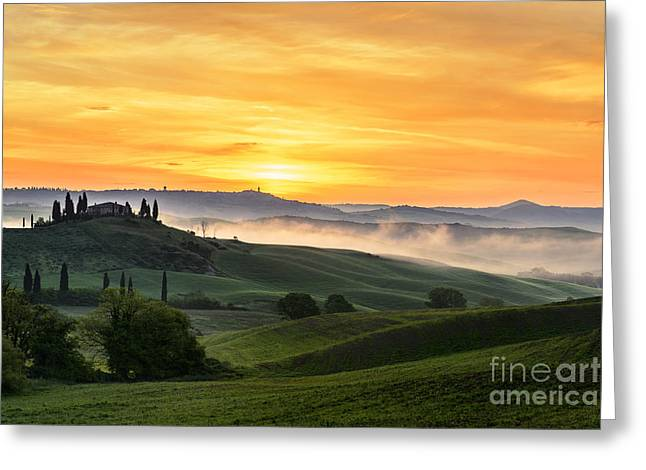 Tuscan Countryside Greeting Card by Yuri Santin