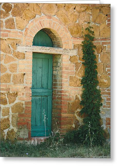 Tuscan Door Greeting Card by Clint Brewer