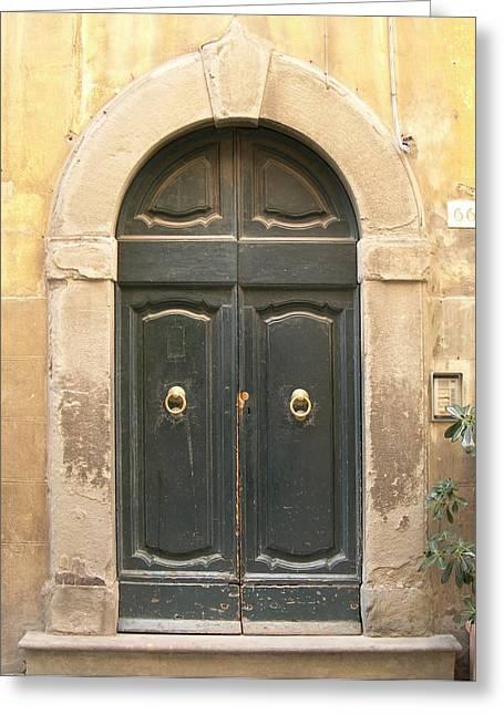 Tuscan Doorway Greeting Card by Melinda Saminski