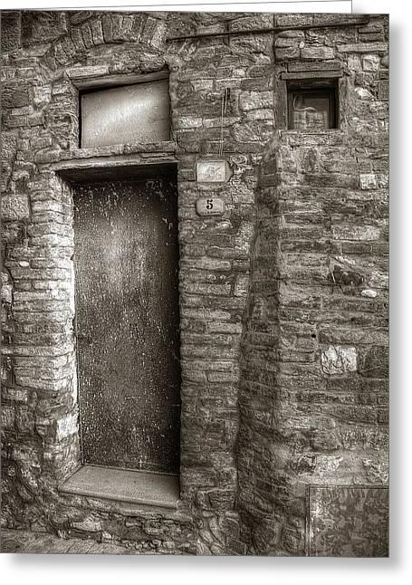Tuscan Doorway Greeting Card