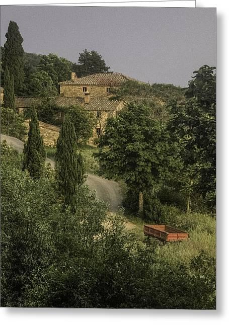 Tuscan Estate Greeting Card