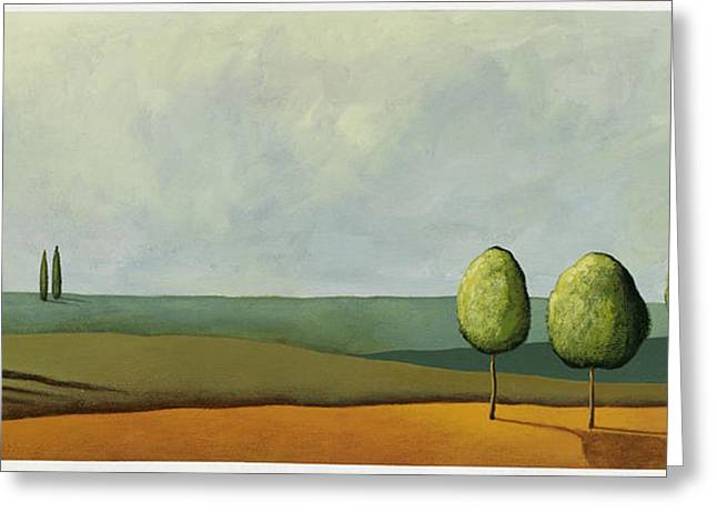 Tuscan Field Greeting Card by Pablo Esteban