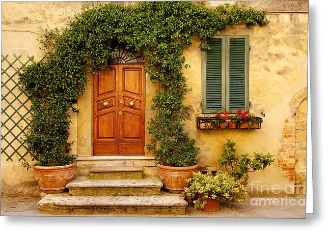 Tuscan Front Door Greeting Card