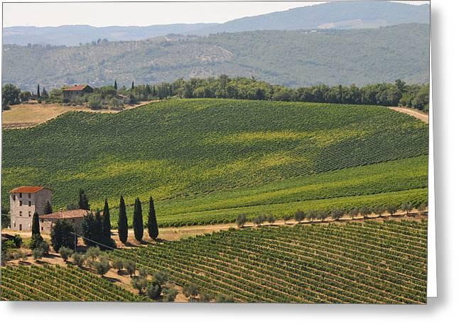 Tuscan Hillside Greeting Card