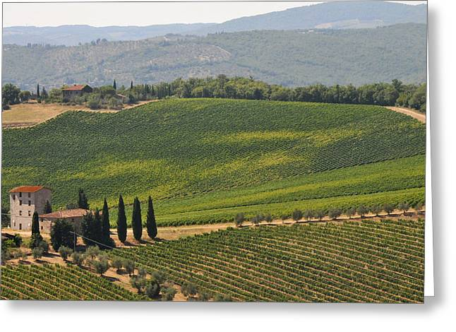 Tuscan Hillside Greeting Card