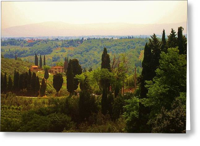 Tuscan Landscape Greeting Card by Dany Lison
