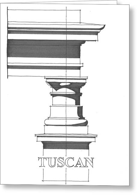 Tuscan Order Greeting Card by Calvin Durham