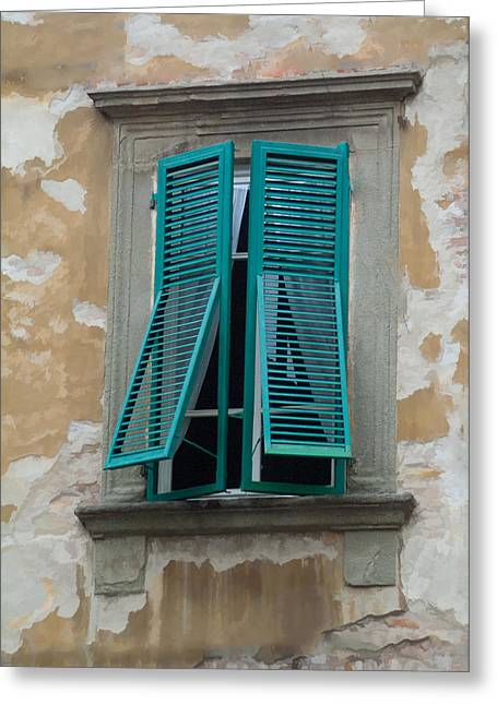 Tuscan Shutters Greeting Card by Michael Flood