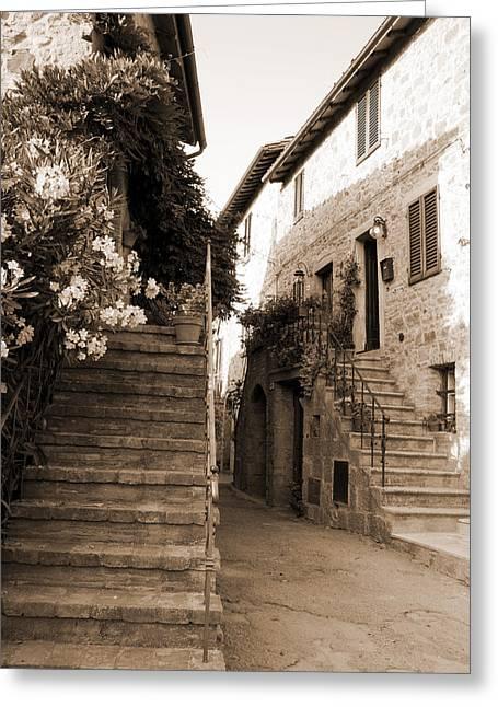 Tuscan Stairways 2 Greeting Card
