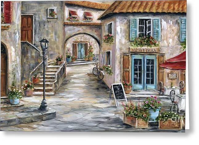 Tuscan Street Scene Greeting Card by Marilyn Dunlap