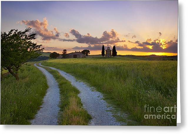 Tuscan Sunset Greeting Card