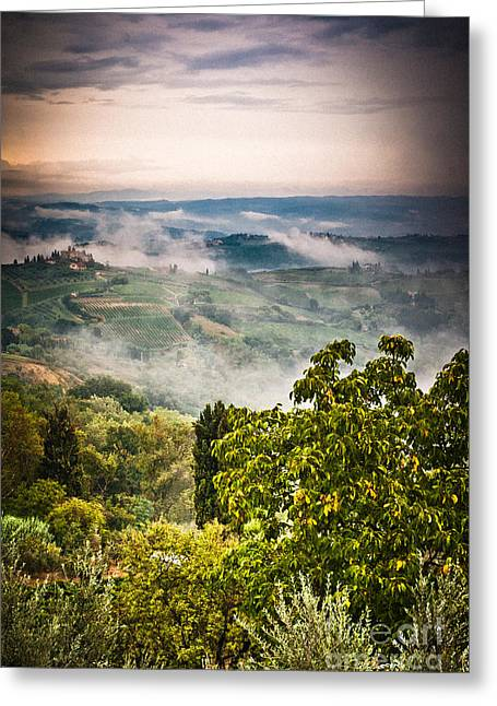 Tuscan View Greeting Card by Silvia Ganora