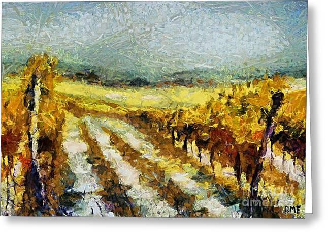 Tuscan Vineyard Greeting Card by Dragica  Micki Fortuna