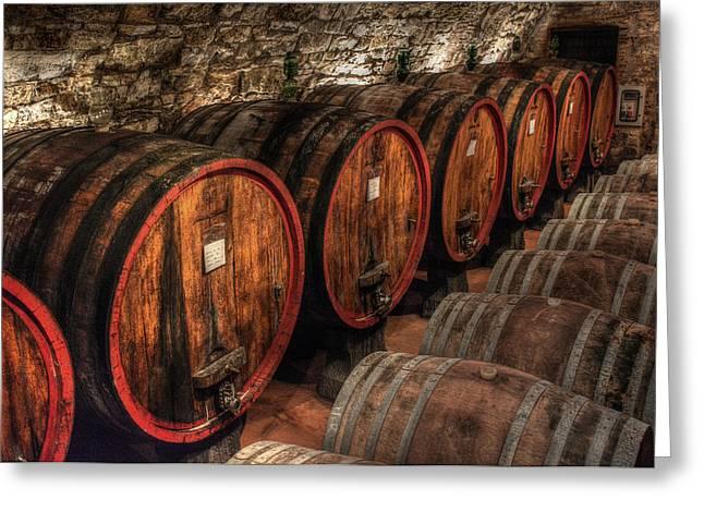Tuscan Wine Cellar Greeting Card