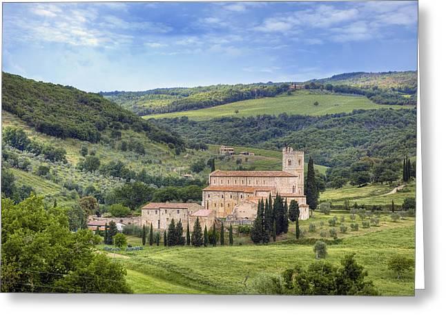 Tuscany - Abbazia Di Sant'antimo Greeting Card by Joana Kruse