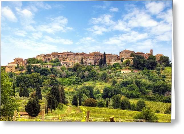 Tuscany - Castelnuovo Dell'abate Greeting Card by Joana Kruse