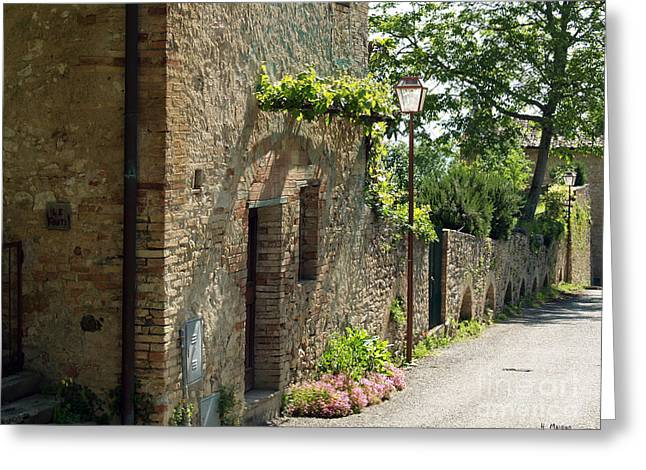 Tuscany Alley Italy Greeting Card