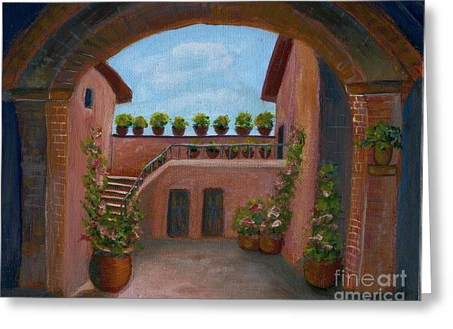 Tuscany Arch Greeting Card