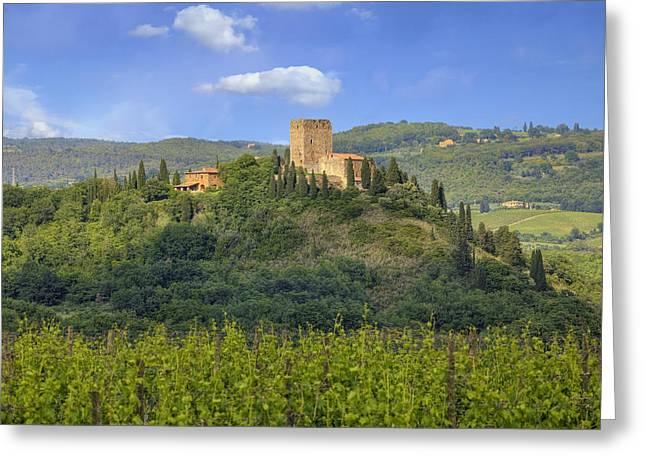 Tuscany - Arigiano Greeting Card by Joana Kruse